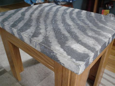 How To Build Your Own Kitchen Island concrete zebra print table top only top