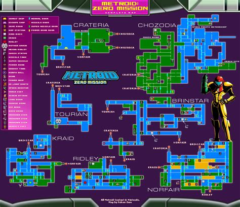 metroid map maps metroid zero mission metroid recon