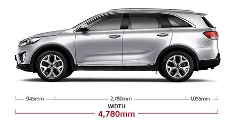 Dimensions Of Kia Sorento New Sorento Specs Road Vehicle Kia Motors Hong Kong