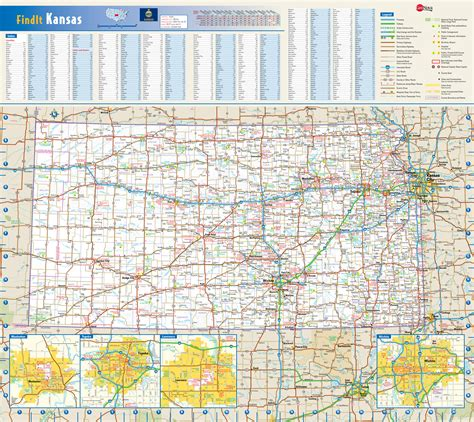 map usa kansas large detailed roads and highways map of kansas state with