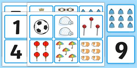 printable numbers 1 10 twinkl 1 10 number and quantity matching cards esl number matching
