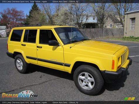 jeep cherokee yellow 2001 jeep cherokee sport 4x4 solar yellow agate photo