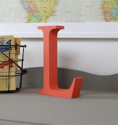 Free Standing L by Free Standing Distressed Wooden Letters Alphabet Decor