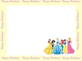 invitation cards for princess birthday 6 free borders for birthday invitations