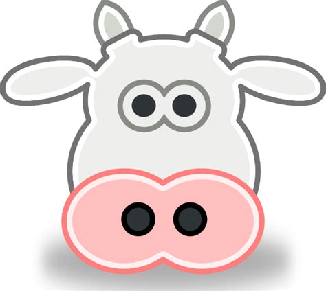 cow mask template cow clip at clker vector clip