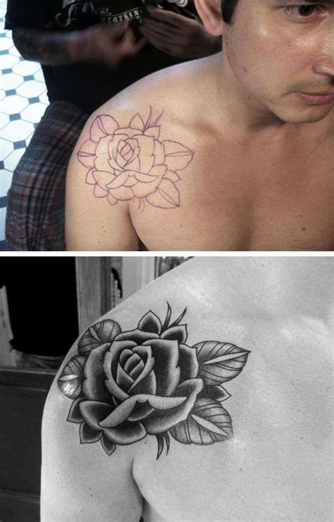 roses on shoulder tattoos 65 trendy roses shoulder tattoos