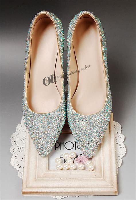 Flache Weiße Schuhe Hochzeit by Kaufen Gro 223 Handel Flache Wei 223 E Brautschuhe Aus