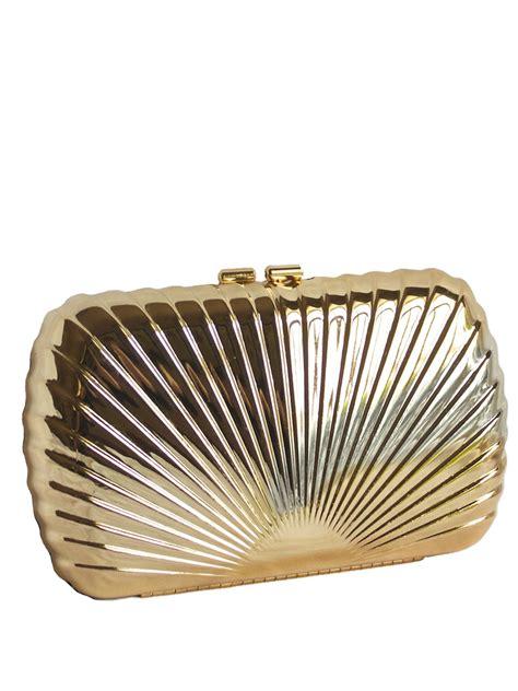 dents clutch bag purse metal shell pattern tout ensemble