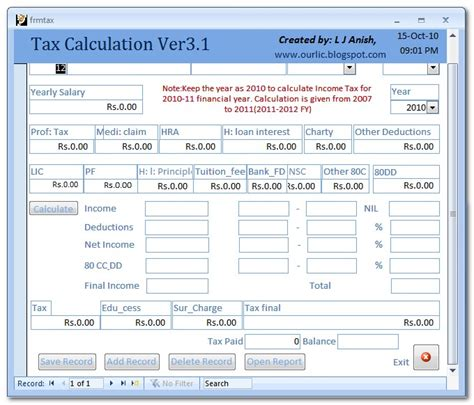 calculator new tax plan income tax calculator for any year up to ay 2016 17