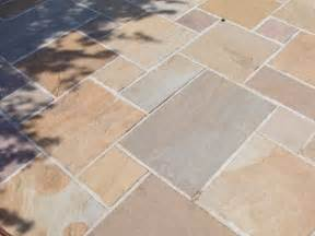 buff indian sandstone patio paving slabs