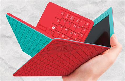 Origami Screen - fujitsu flexbook concept folding tablet netbook fits in