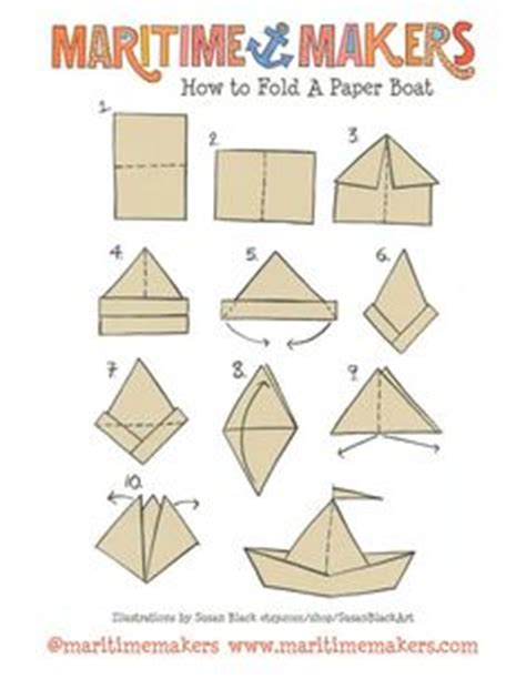 How To Fold A Sailor Hat Out Of Paper - paper boats my made these out of the church bulletins