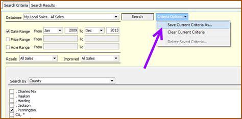 design criteria by zip create a search criteria template