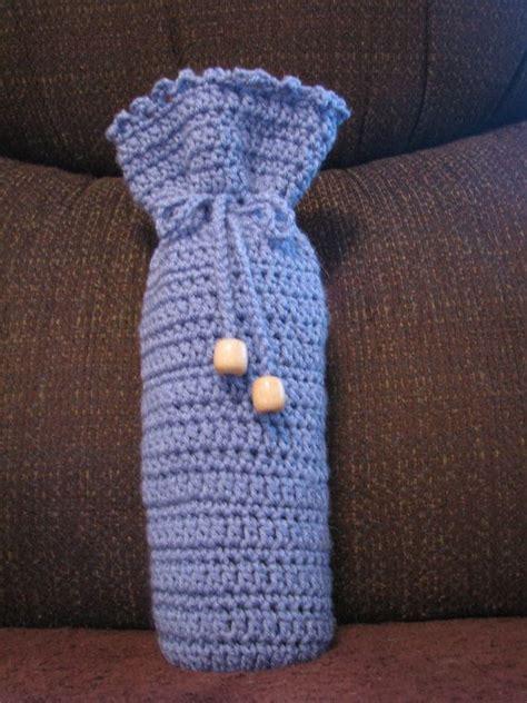 pattern for crochet bottle bag crochet wine bottle cover pattern free wine bottle cozy