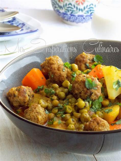 recette de cuisine alg駻ienne samira tajine kefta aux petits pois et aux carottes le