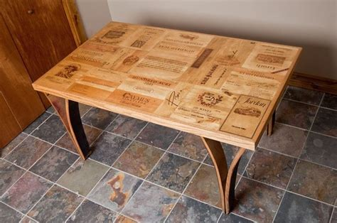 Wine Dining Table Wine Crate Table With Stave Legs Dining Tables Denver By Alpine Wine Design