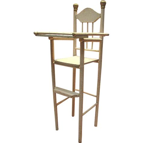 Wooden Doll High Chair Plans by Antique Wooden High Chair For 12 15 Inch Doll Spiral