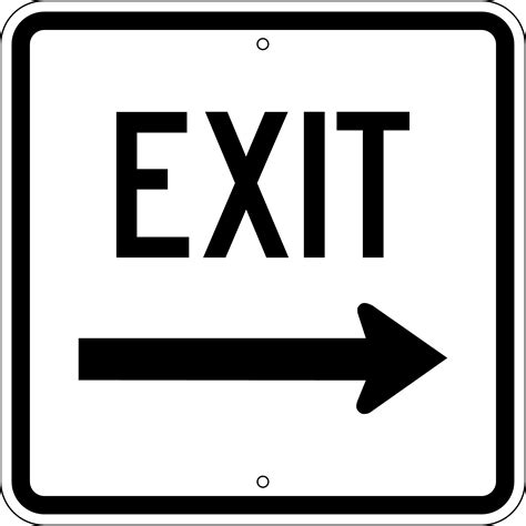 free exit sign coloring pages