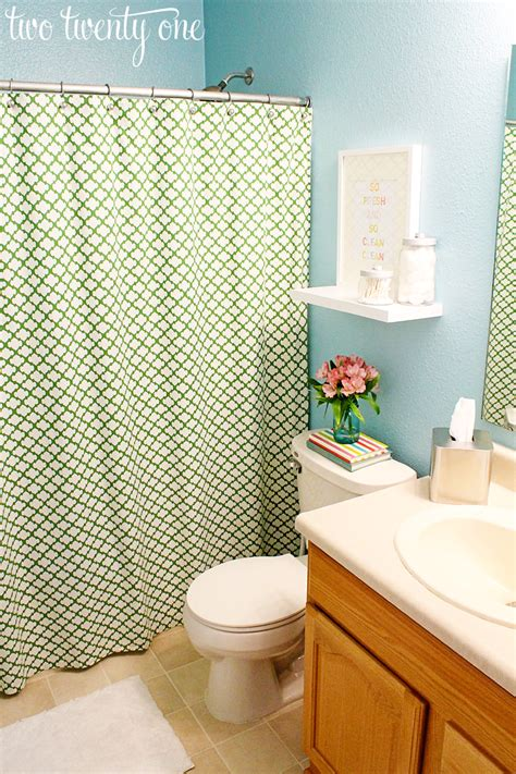 blue green bathroom december 2012 two twenty one