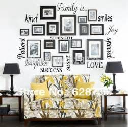 Words For The Wall Home Decor Free Shipping Wall Stickers Home Decor Family Is Vinyl