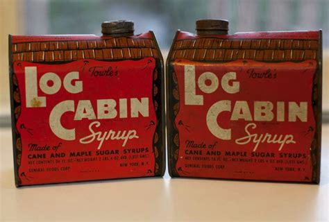 vintage towels log cabin maple syrup tin new york new york