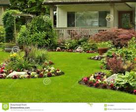 Spring Flower Bushes - front yard landscaping stock image image 31598801