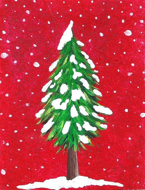 oh christmas tree painting by oddball art co by lizzy love
