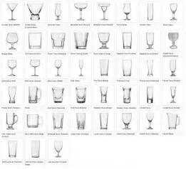 Different Kinds Of Vases Glassware Chart Table Etiquette Pinterest Glasses