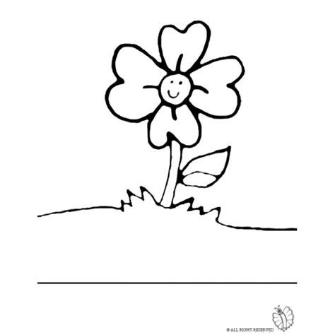 fiore disegno disegno di fiore nel prato da colorare per bambini