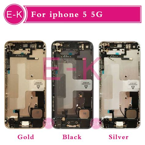 Housing Casing Iphone 5g 5 Model Iphone 6s Black Logo Gold popular iphone 5 gold housing buy cheap iphone 5 gold