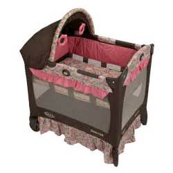 graco travel lite pink jaqueline playard pack n and play