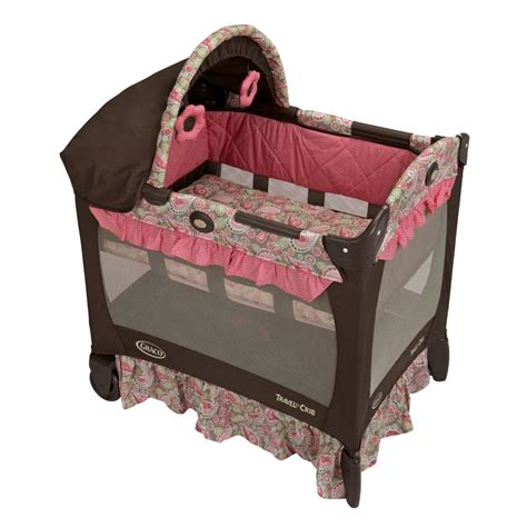 Playard Crib by Graco Travel Lite Pink Jaqueline Playard Pack N And Play