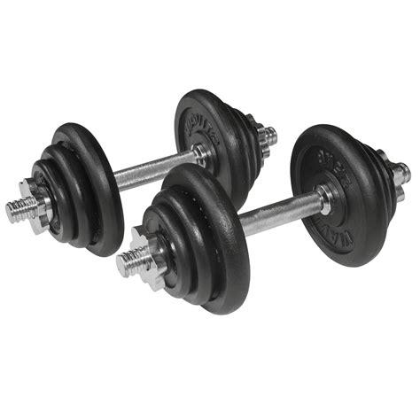 Dumbbell Set 20 Kg viavito 20kg black cast iron dumbbell set