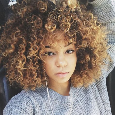 short cuts curly hair mixed towheaded short afro curly mixed color side bang women s