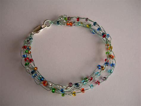 crochet wire bracelet taster evening joelleharris
