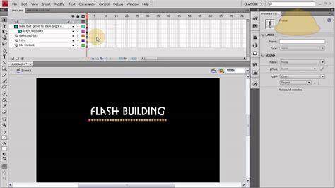tutorial flash cs5 website part 1 flash cs4 cs5 cs5 5 full website template load bar
