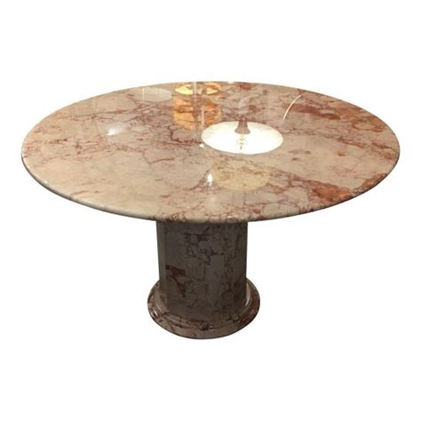 Marble Pedestal Dining Table 48 Quot Pink And Marble Dining Table With Pink And