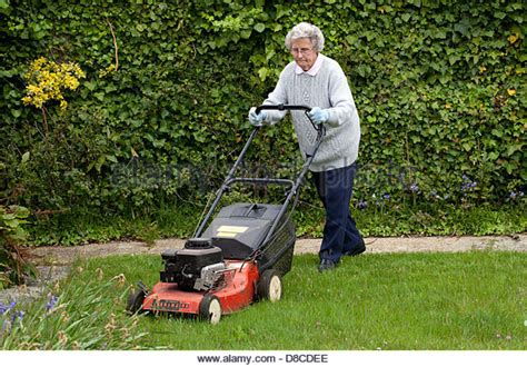 mowing lawn uk stock photos mowing lawn uk stock images