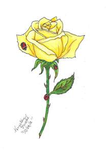 yellow rose commission for tattoo in memory pinterest
