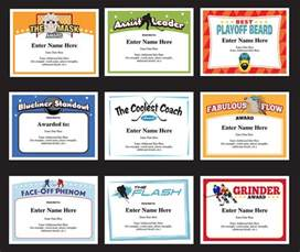 Hockey Certificate Templates by Hockey Certificate Templates Players And Coaches Awards