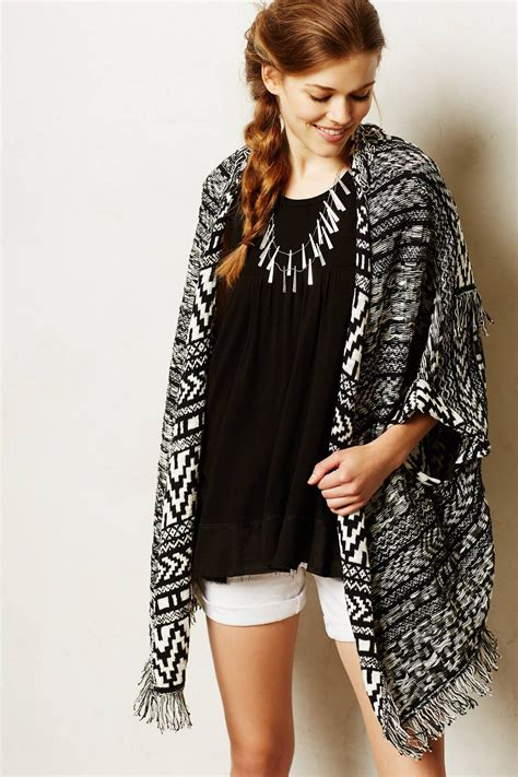 moth fringed jacquard cardigan in black lyst