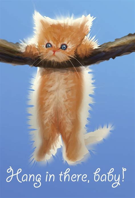 Hang On hang in there cat poster original 70 s search
