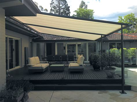System Awnings by Retractable Roof Pergola Home Decorating Ideas