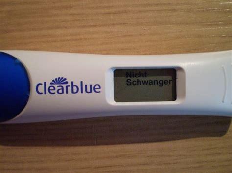 ab wann clearblue schwangerschaftstest ab wann positiv negativ