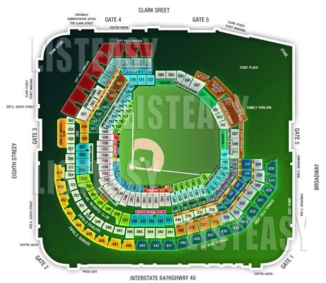 busch stadium seating prices 1 10 tickets st louis cardinals vs pittsburgh 5