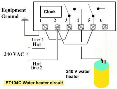 circuit et water heater circuit wiring diagram