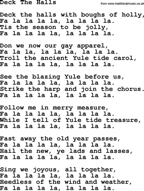 deck the halls lyrics joan baez song deck the halls lyrics