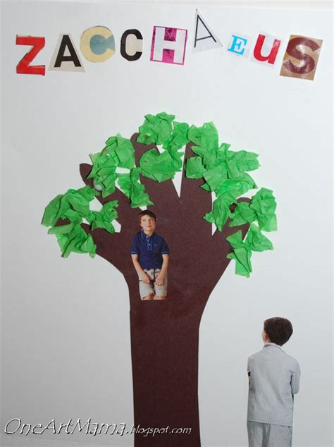 zacchaeus crafts for zacchaeus craft use pics and thumbprints for leaves