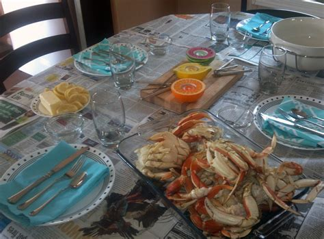 Crab Table by 1000 Images About Crab Feed Ideas On Table
