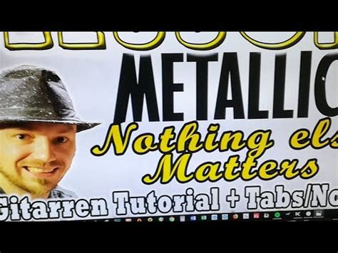youtube tutorial nothing else matters live tutorial nothing else matters interaktiv lernen